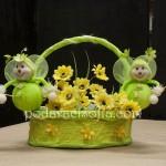 Великденска кошничка с пчелички от плат от магазин за подаръци Gifts