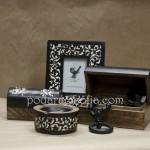 Кутия от дърво, рамка за снимка и пепелник от магазин за подаръци Gifts