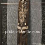 Еказотична дървена маска за стена