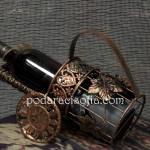 Стойка за вино от метал в меден цвят от магазин за подаръци Gifts