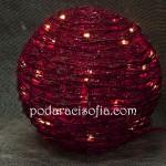 Светеща коледна декорация като топка от магазин за подаръци Gifts