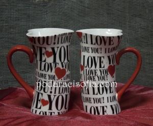 Керамични чаши за чай или кафе във формата на сърца от Gifts