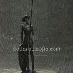 Пластика на Дон Кихот, изработена от метал, магазин Gifts