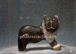 Дървена пластика лъв