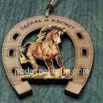 Дървена подкова с кон