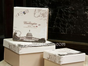 Кутия от картон – Вашингтон и Белият дом на картинка.