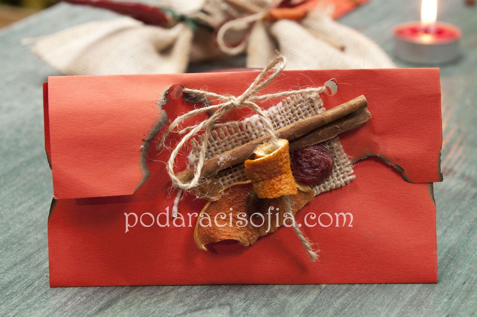 Ръчно направена картичка за Коледа