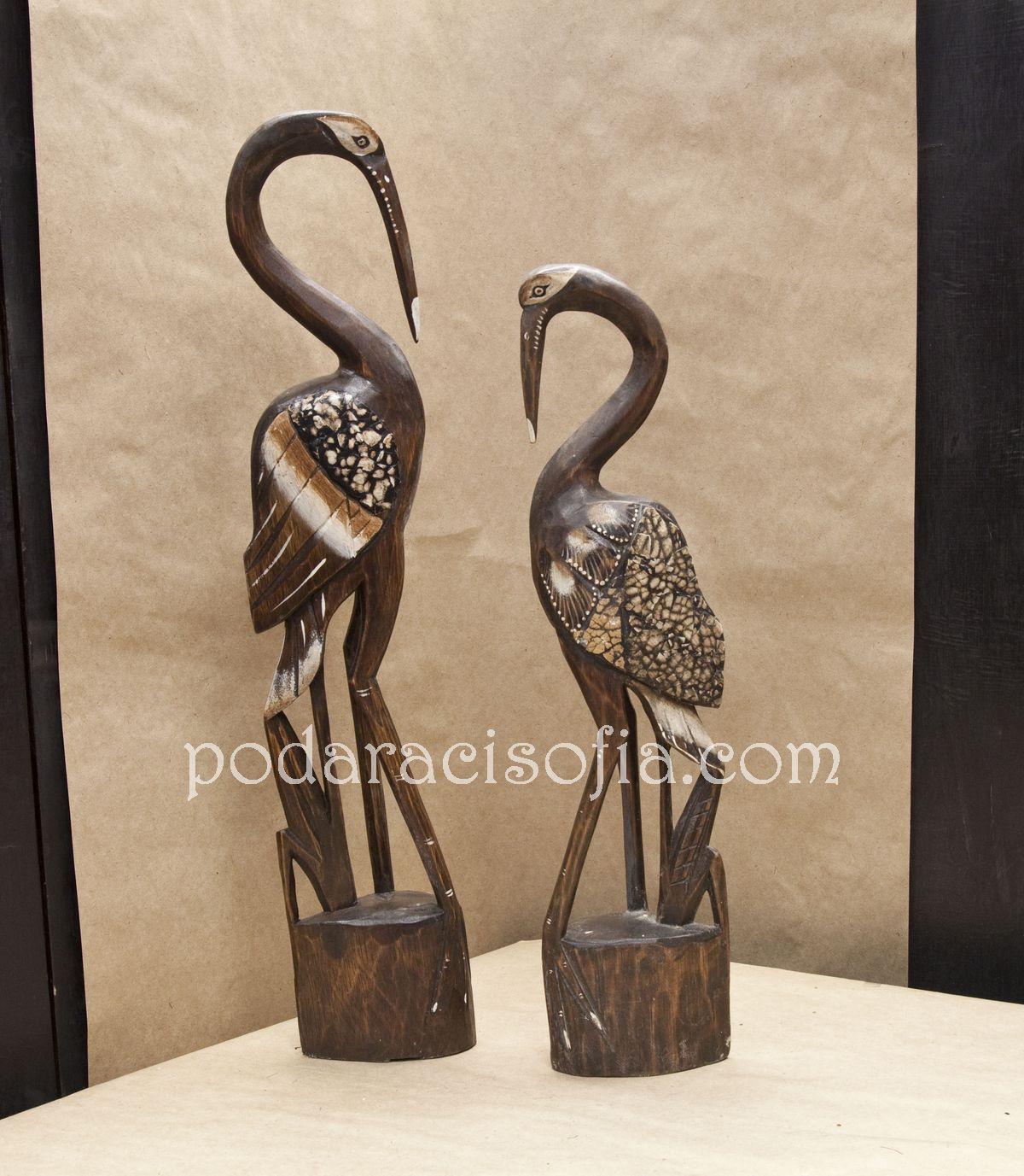 Две дървени чапли за подарък за жена