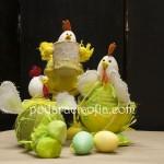 Три модела кокошки от Великденската колекция на магазин за подаръци Gifts