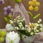 Саксиите като черупки от яйца са много подходяща украся за Великден.