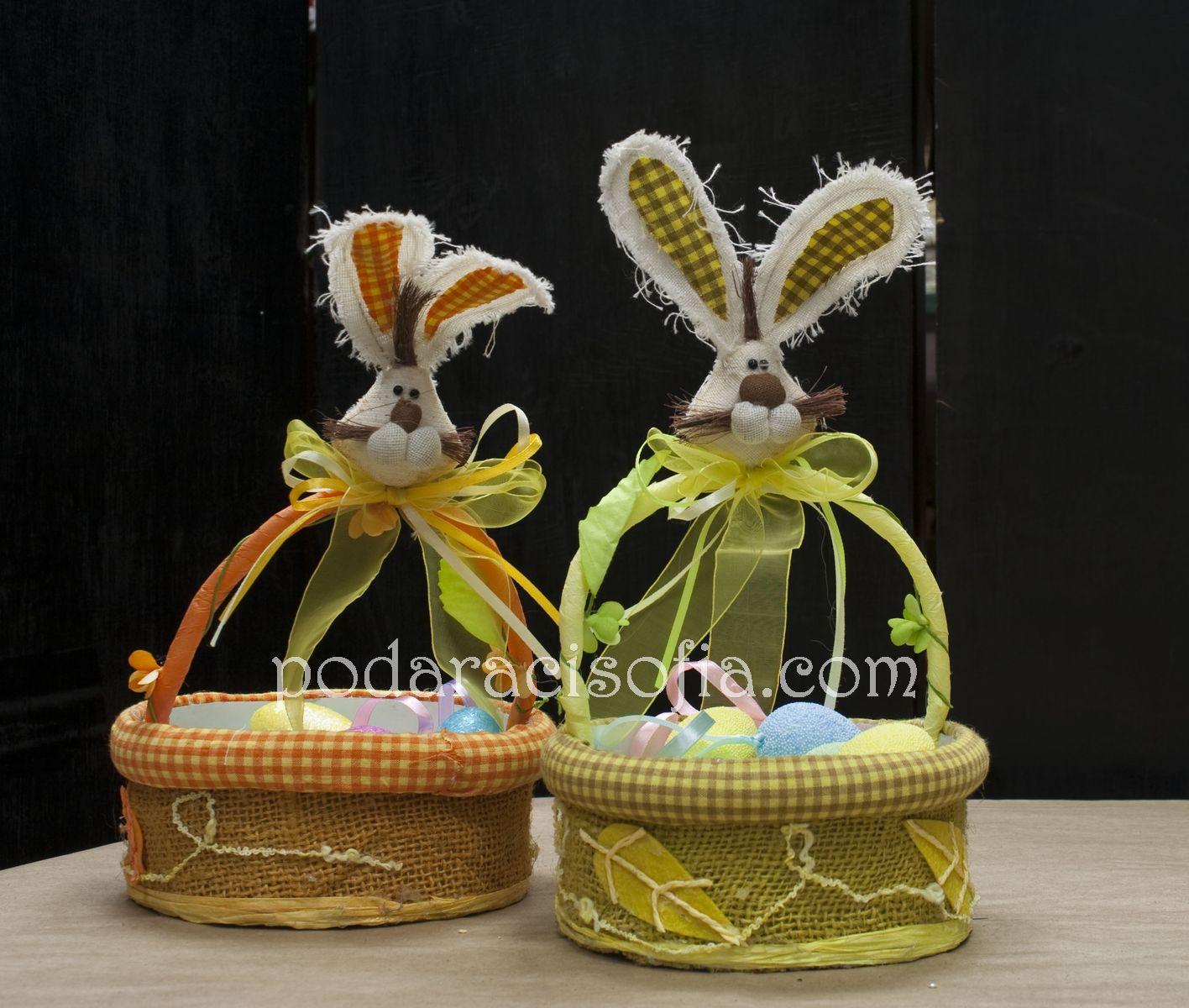 Кошнички за Великденски яйца със зайчета от магазин за подаръци Gifts