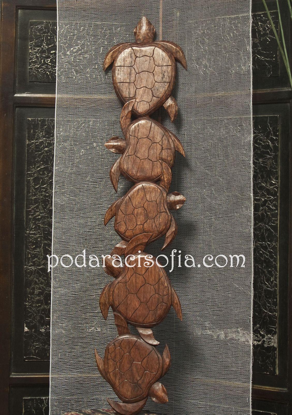 Дървени костенурки за закачване на стена