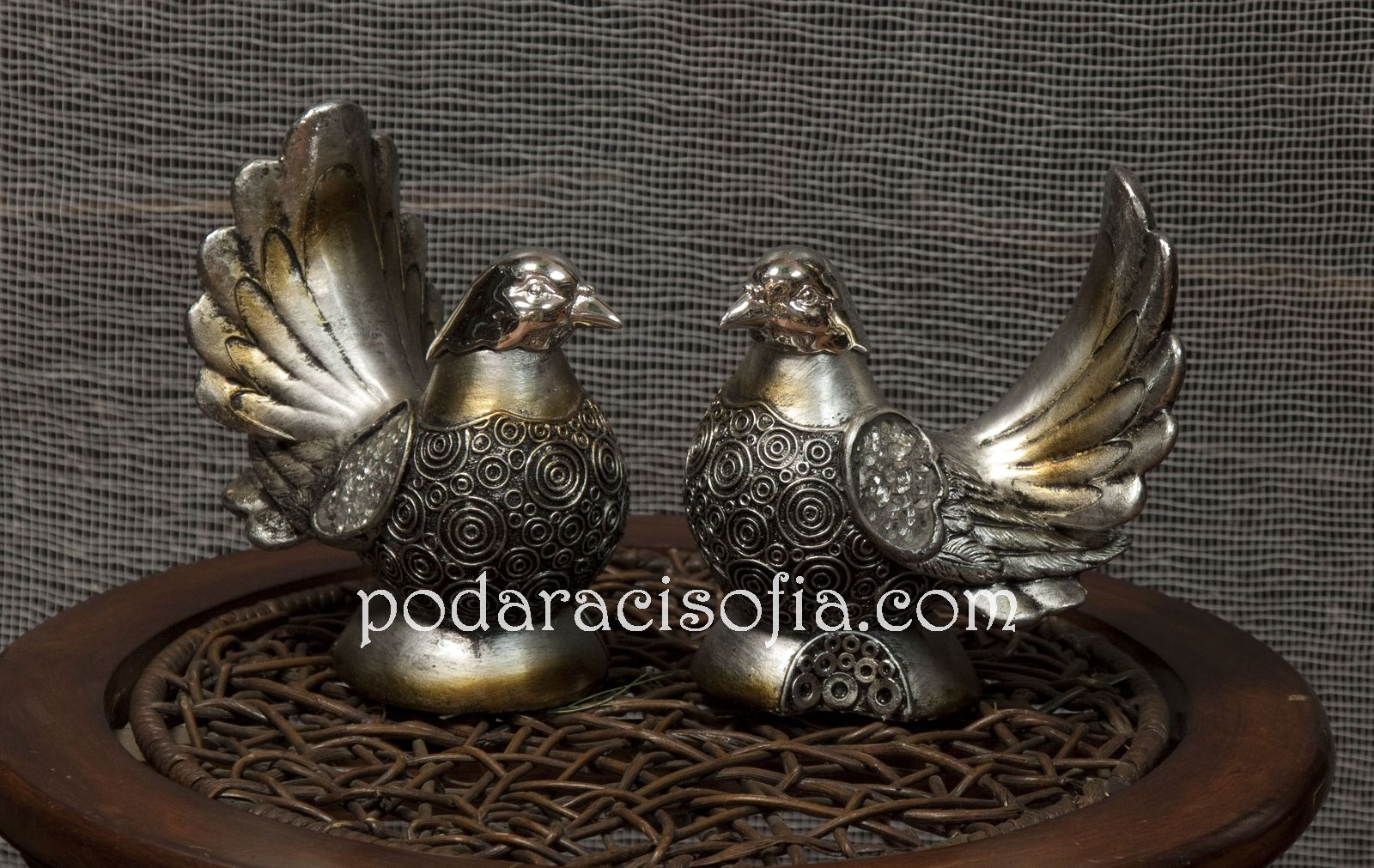 Двете птички от метал от магазин за подаръци Gifts