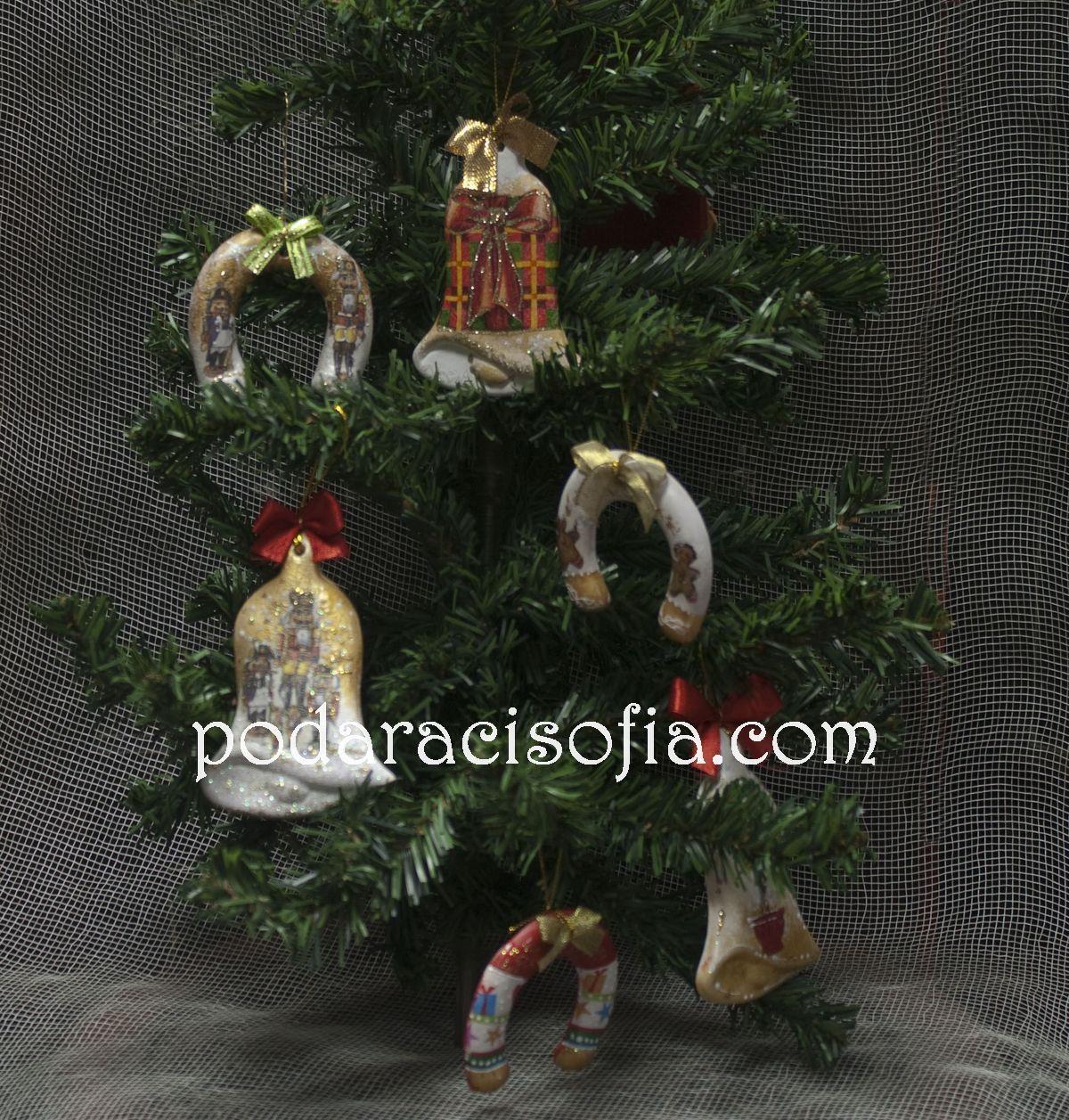 Играчки за елха от рисувана керамика от магазин Gifts