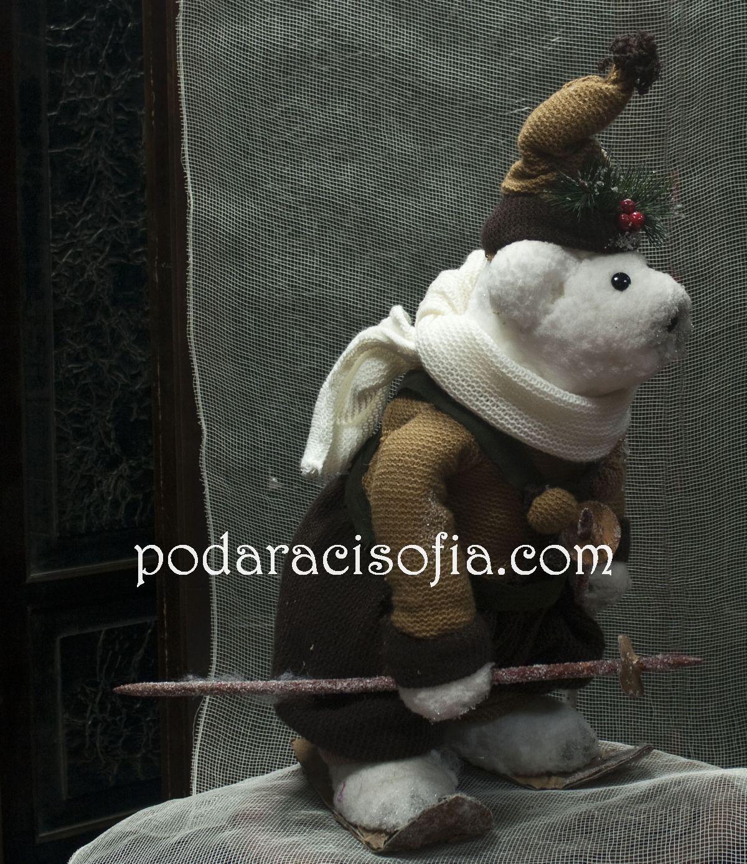 Мече-скиор оригинална украса за Коледна от Gifts