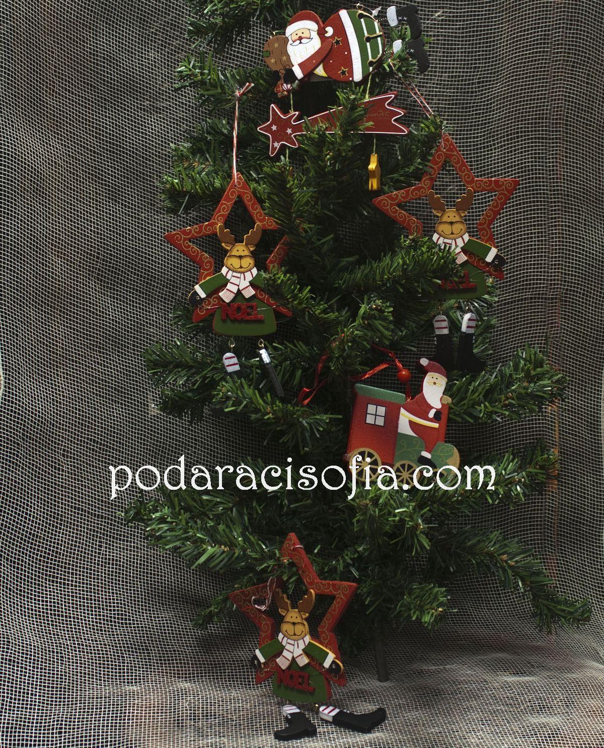 Дървени играчки за елха от магазин Gifts
