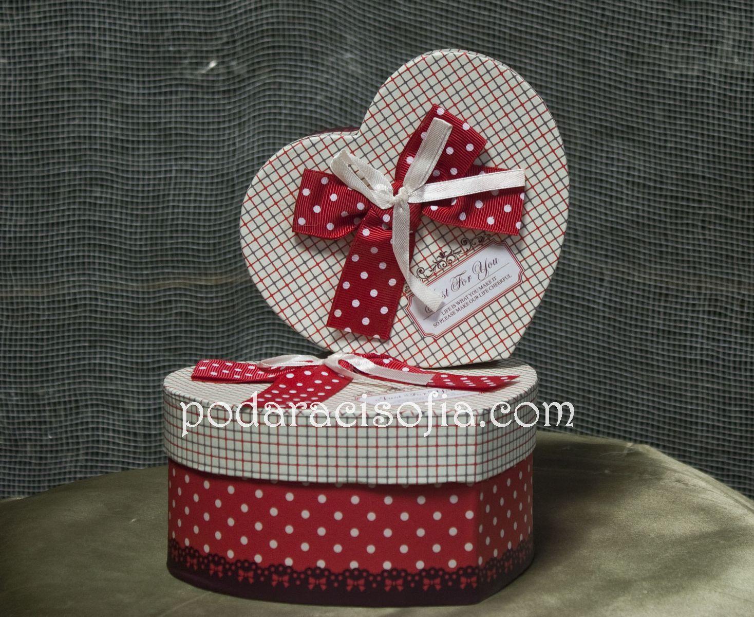 Кутия във формата на сърце от агазин Gifts