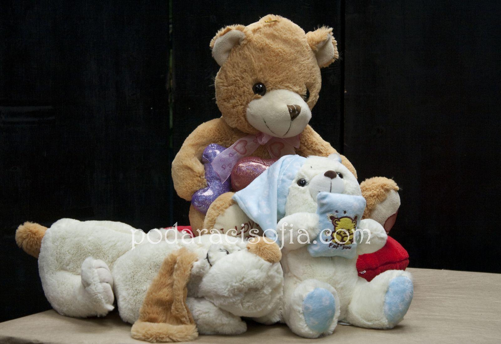 Плючени играчки - мечета и куче за подарък за Св. Валентин