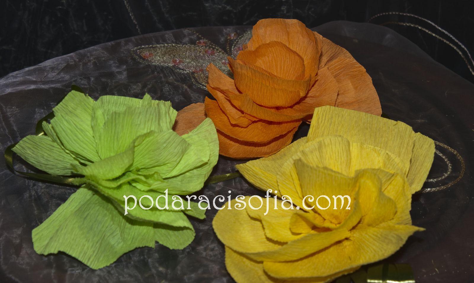 Цветя от хартия за Великден от Gifts