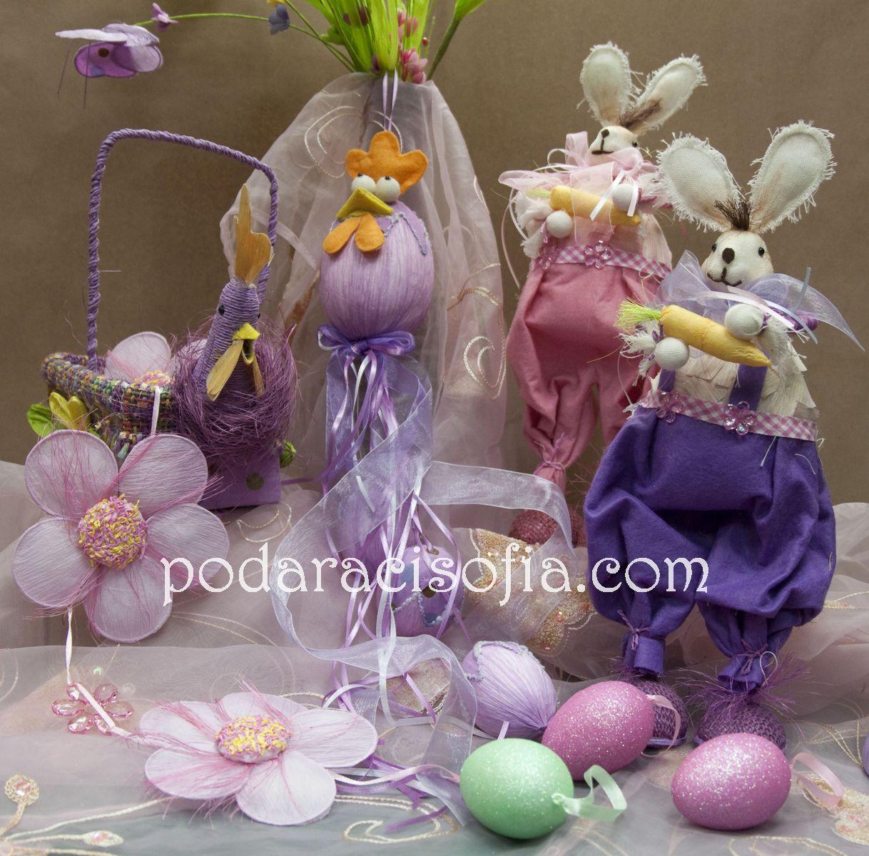 Весела Великденска украса в розово от Gifts