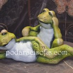 Керамични жаби в различни пози за декорация в градината от Gifts