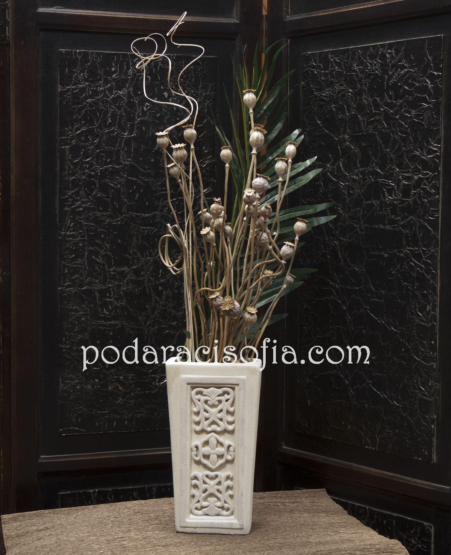 Керамична бяла ваза от Gifts