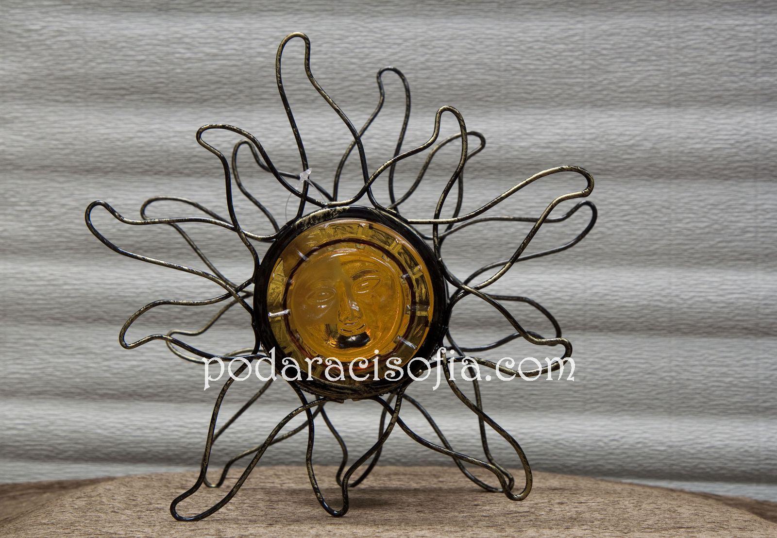 Свещник като слънце със стъкло и метал от Gifts