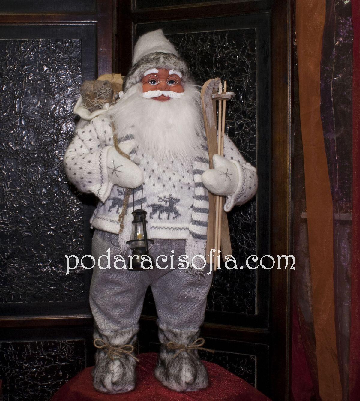 Голяма фигура на Дядо Коледа със сиви дрехи от Gifts