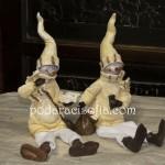 Двойка Снежни човеци от крамика и плат от Gifts