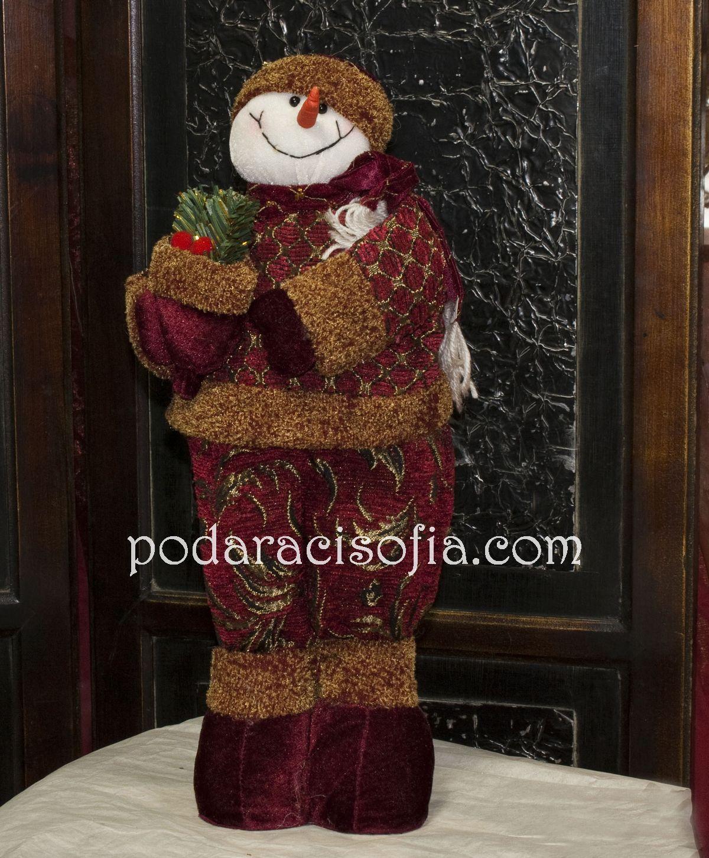 Снежен човек с червени одежни от Gifts