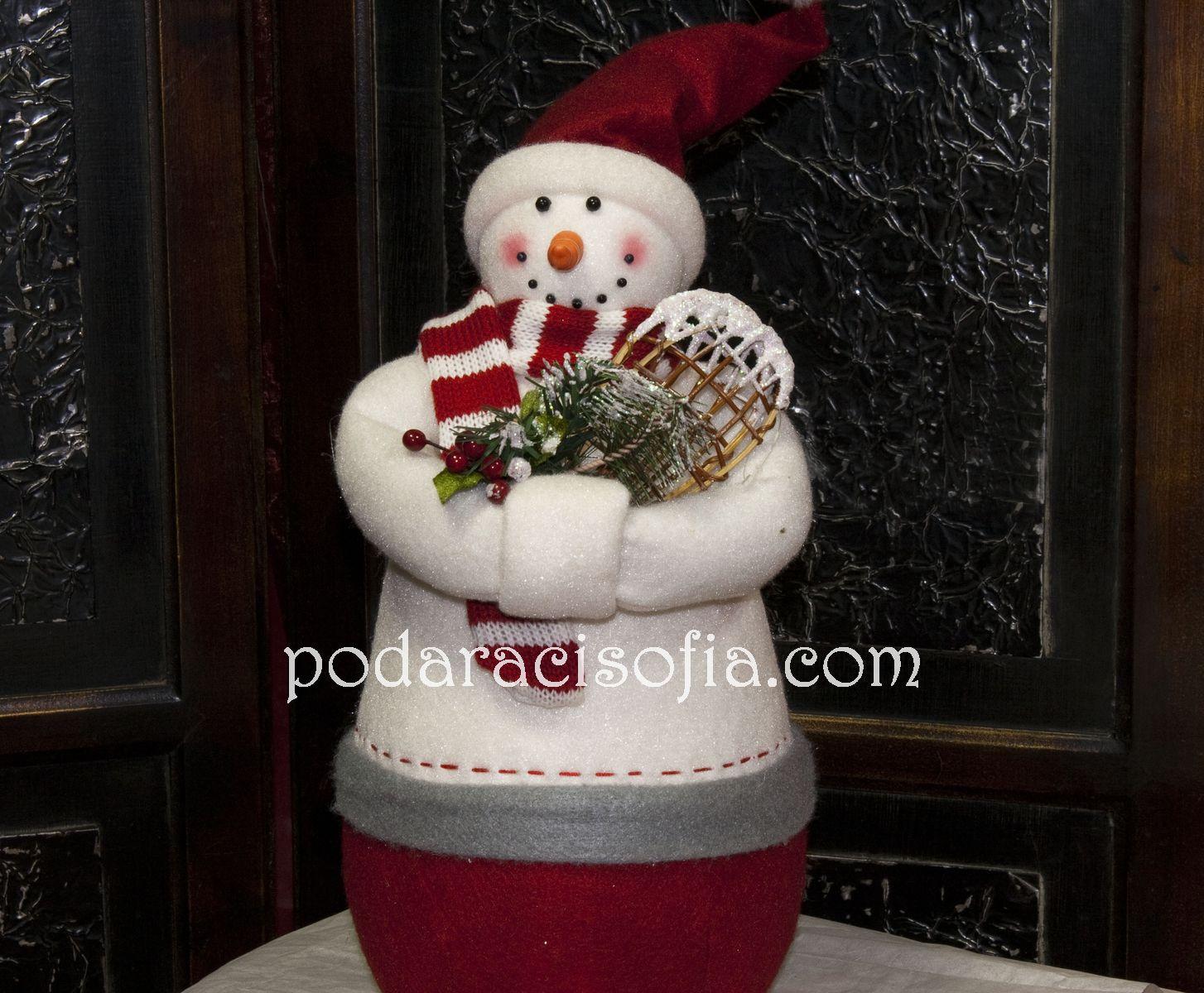 Класически снежен човек от Gifts в бяло и червено