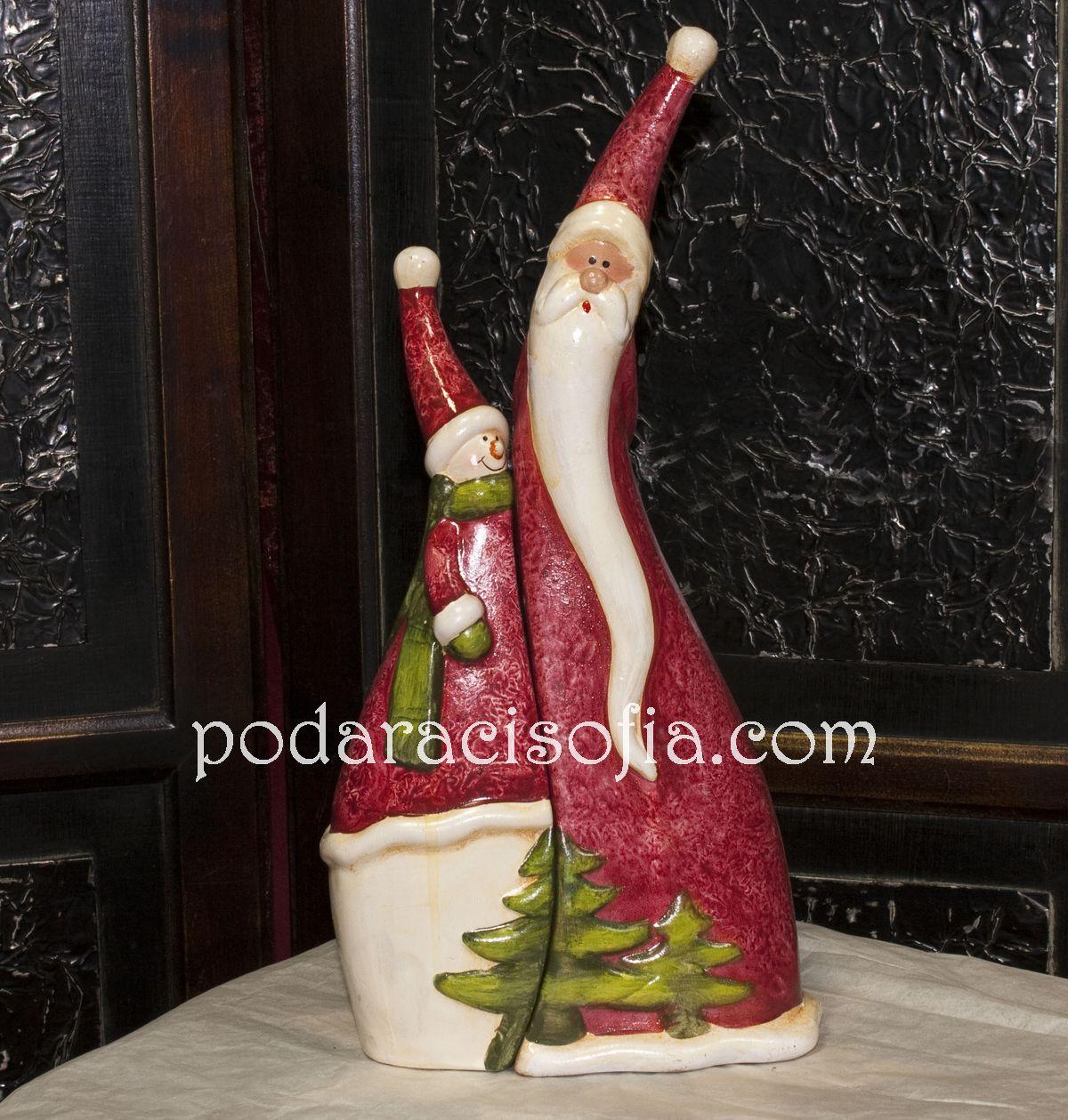 Снежко и Дядо Коледа от керамика.