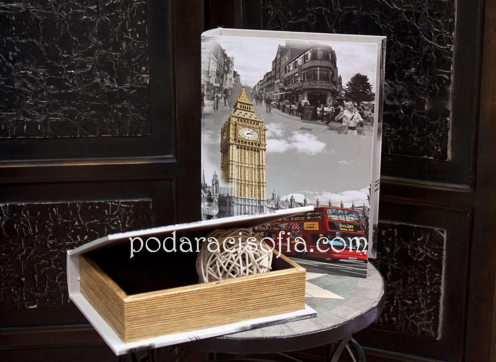 Кутии във витидж стил с рисунки от Лондон