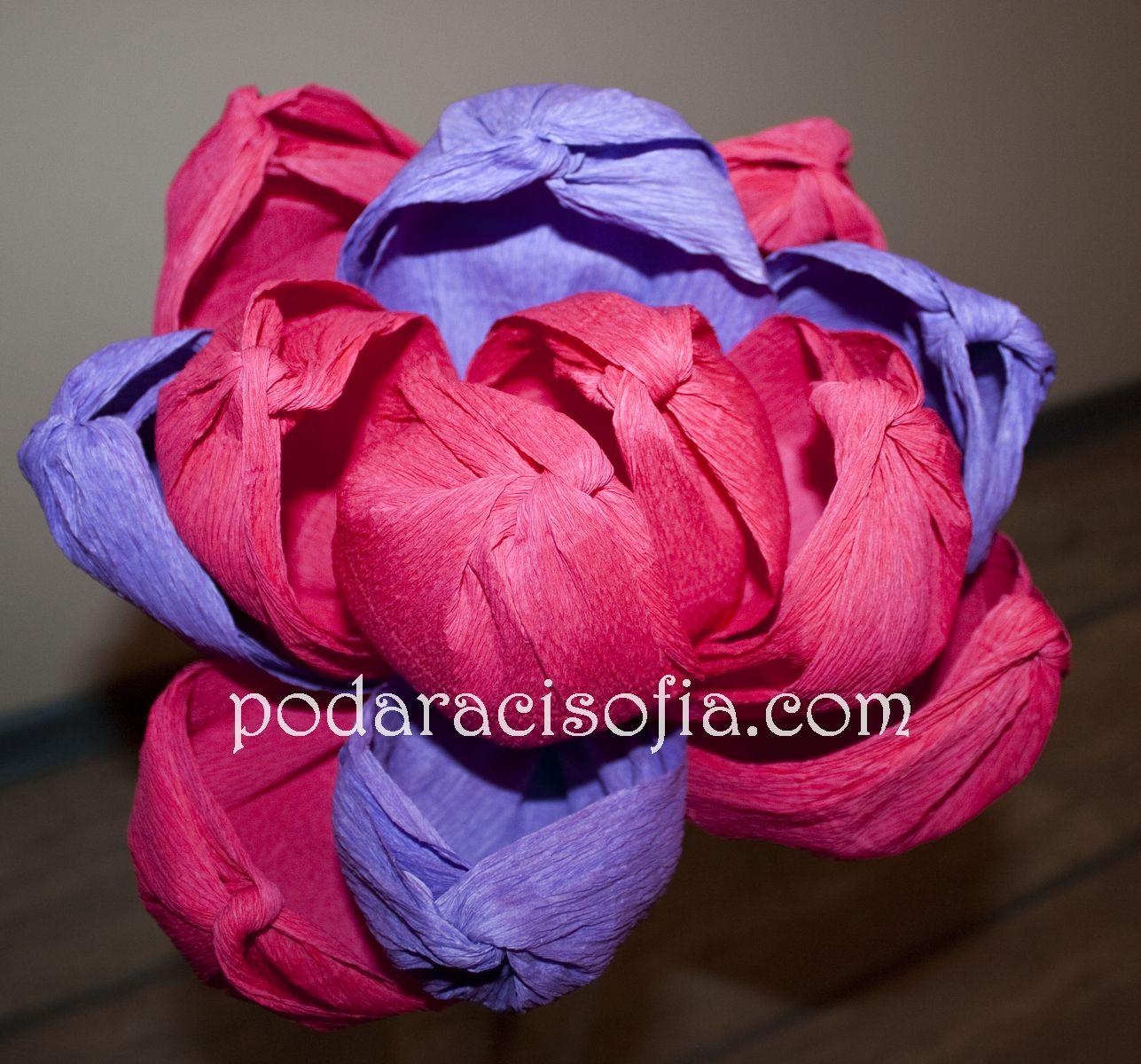Цвете от хартия в розово от Gifts