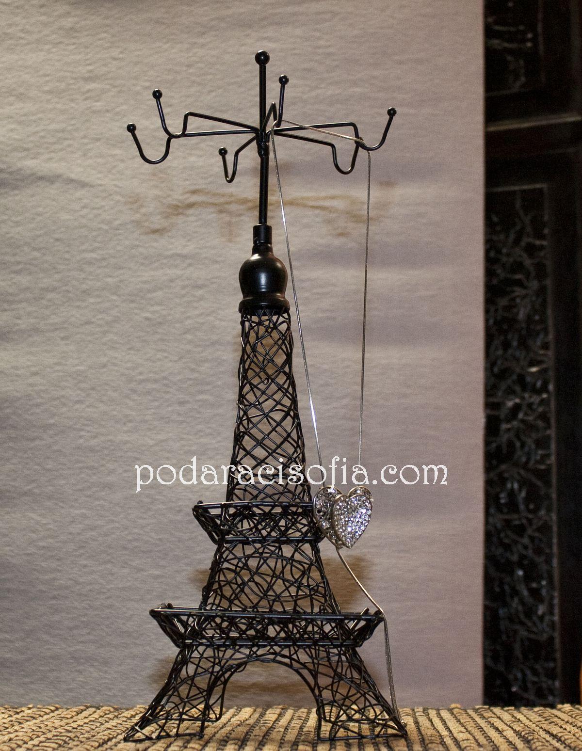 Поставка за аксесоари от метал във формата на Айфеловата кула