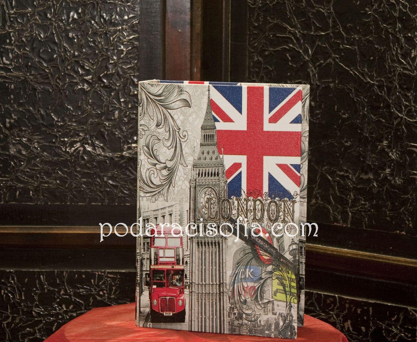 Винтидж кутия за бижута със символи от Англия