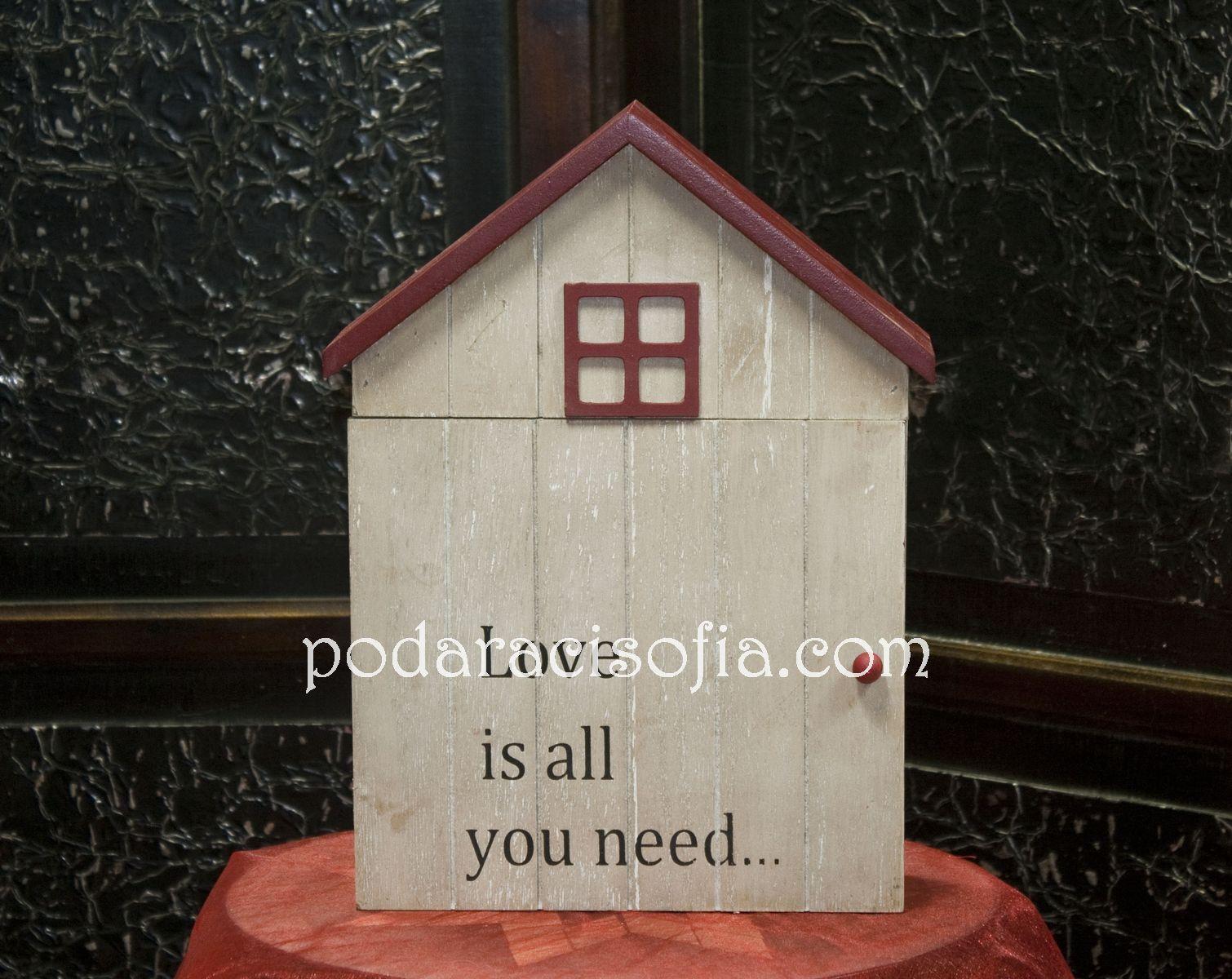 Кутия за ключове за подарък с хубаво послание отпред